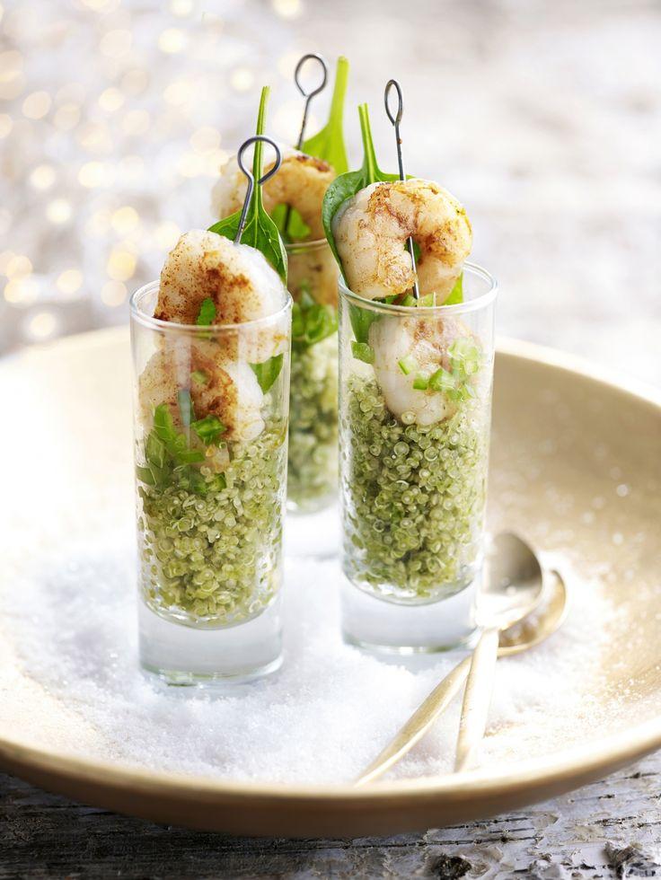 Pittige quinoa met scampi's - Libelle Lekker