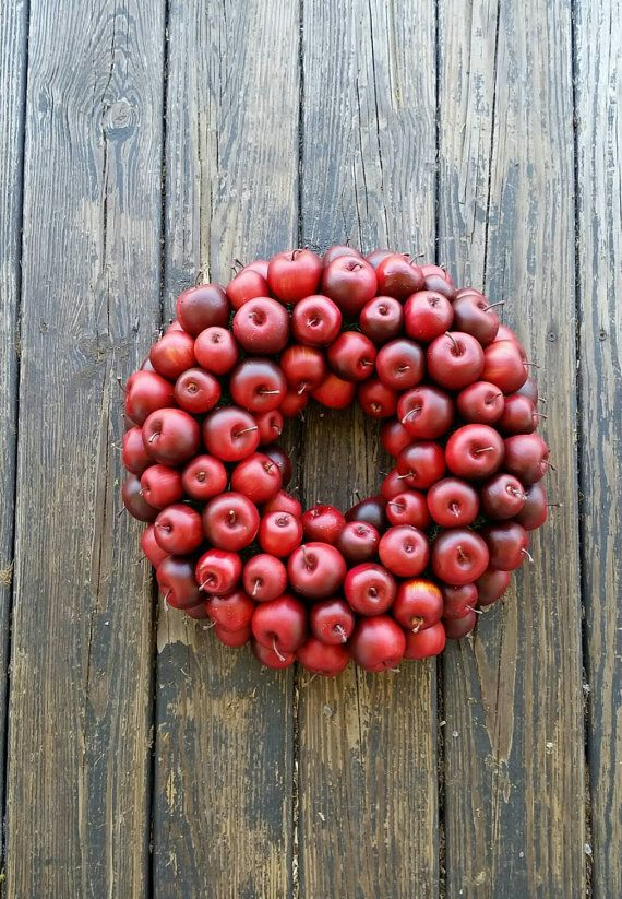 Apple Wreath, Red Apple Wreath $88.00