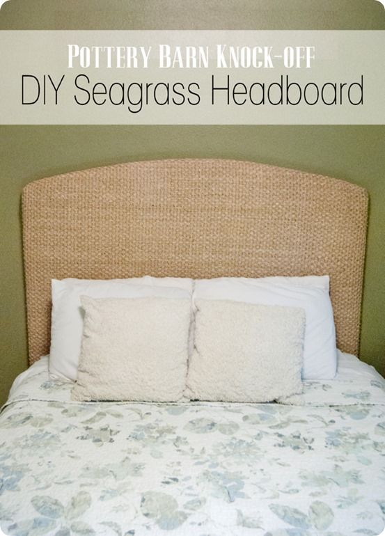 turn a seagrass rug into a headboard - Seagrass Rug