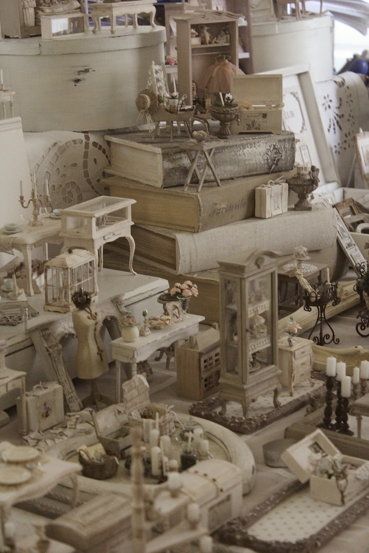 Miniature shabby furniture and accessories
