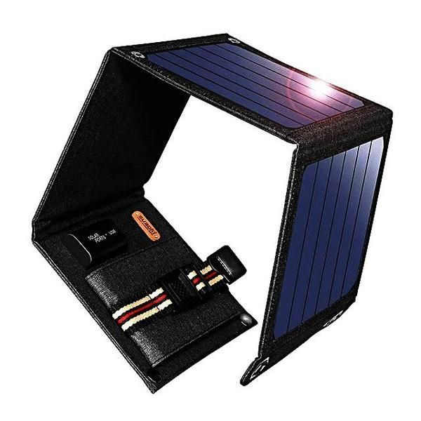 Usb Wallet Solar Charger Solar Panel 5v 2a 14w Usb Max Output 10 5w Working Low Light Level 40000 Lux Material Splashproof S Solar Charger Solar Usb Charger
