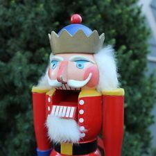 Vintage Nussknacker Erzgebirge Wood Nutcracker Wooden King Christmas Germany