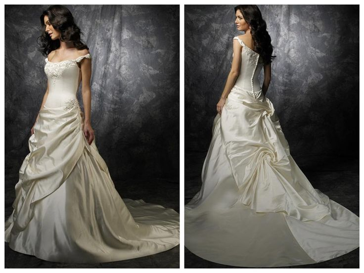 New style Cheap Customer-Made Design off the shoulder Ivory Wedding Dress
