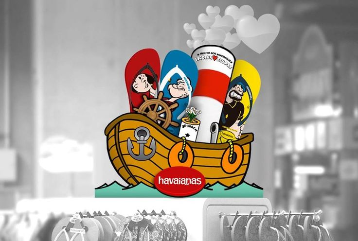 POPEYE X HAVAIANAS COLLABORATION - Classic animated character Popeye is taking new steps into footwear thanks to a partnership with the flip-flop company Havaianas. Click here to get full details https://lnkd.in/f8F4rRx