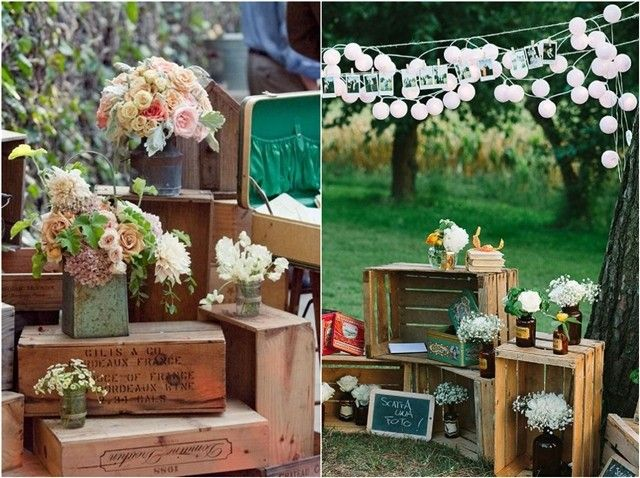 rustic wooden box wedding decor ideas