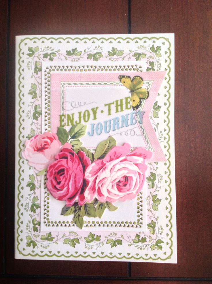 Card By D Marshall Using Anna Griffin Supplies: Pretty Paintings Card And  Layer, Vellum
