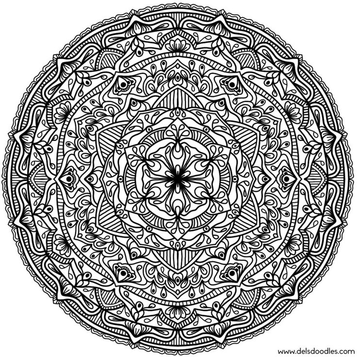 mandala coloring pages as therapy - photo#15