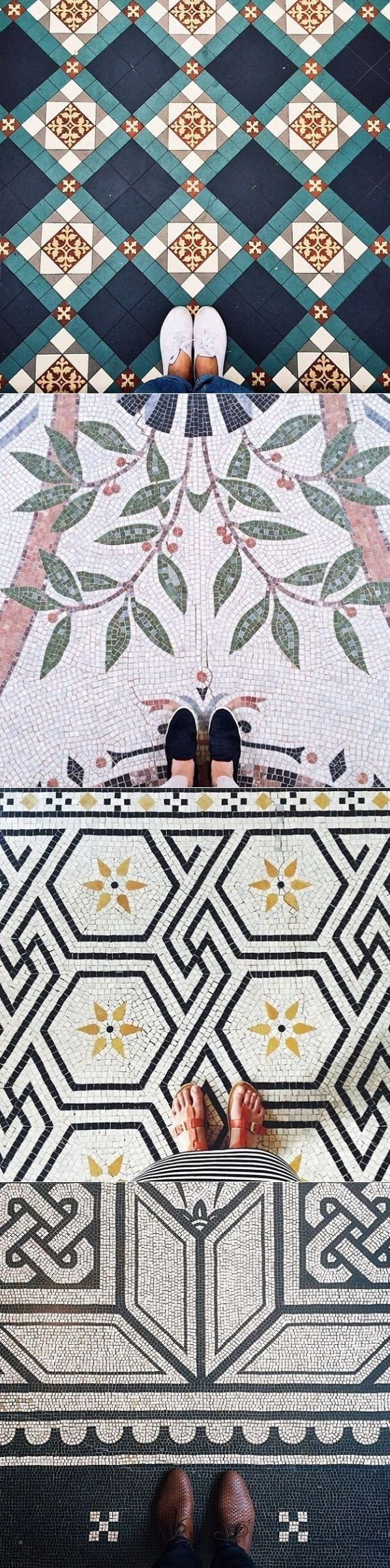 Such an array of striking pretty floors, something for everyone, just ignore the feet!