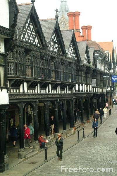 Medieval rows Chester, which now house modern shops
