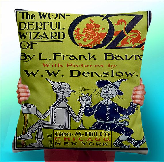 The Wonderful Wizard of OZ Book - Cushion / Pillow Cover / Panel / Fabric