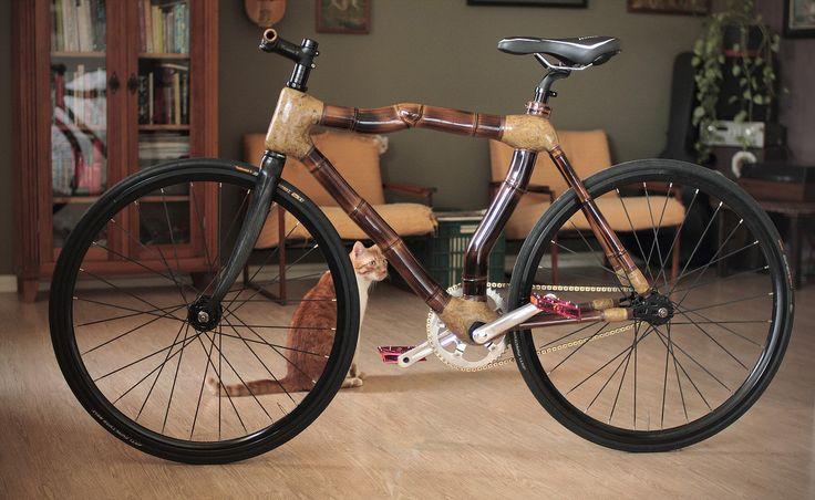 art-bike-bamboo | Special Fixed gear bamboo bike, hand made by ArtBikeBamboo, bicicleta fixa de bambu, personalizada