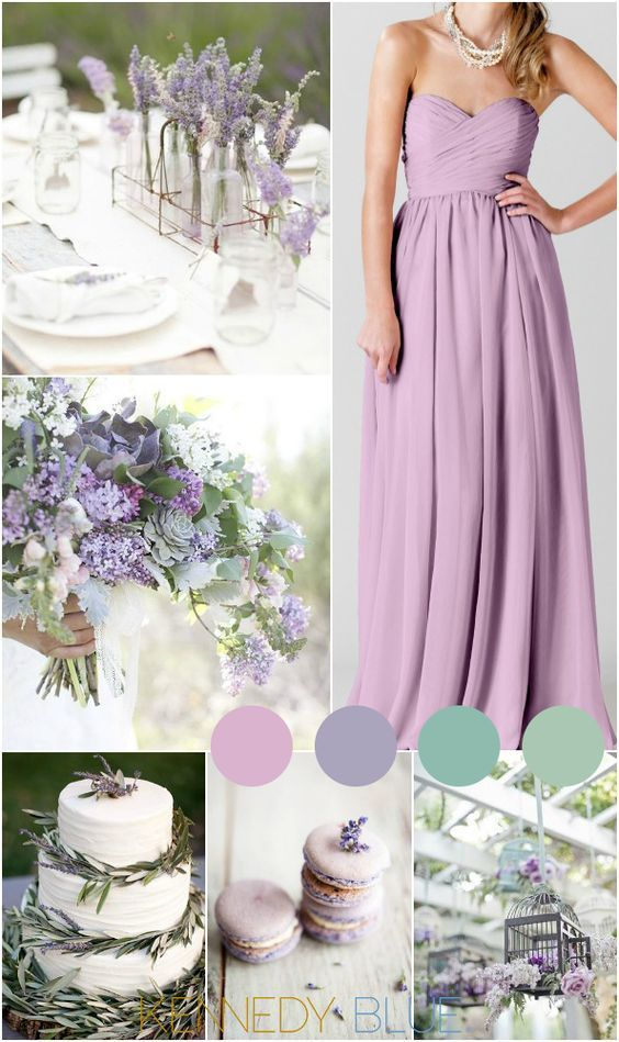 A garden-inspired lilac wedding color palette for spring and summer weddings!