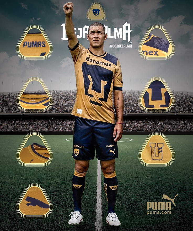 Pumas de la UNAM PUMA 2012/13 Home, Away and Third Jerseys