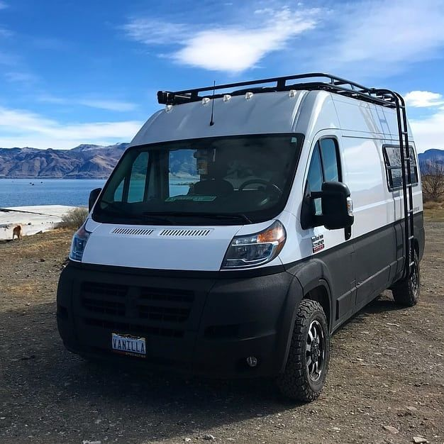 Time For Some Promaster Love Rigs Outfitted With Aluminess Gear Out Adventuring Aluminess Roofrack Lad Ford Transit Camper Van Life Roof Rack