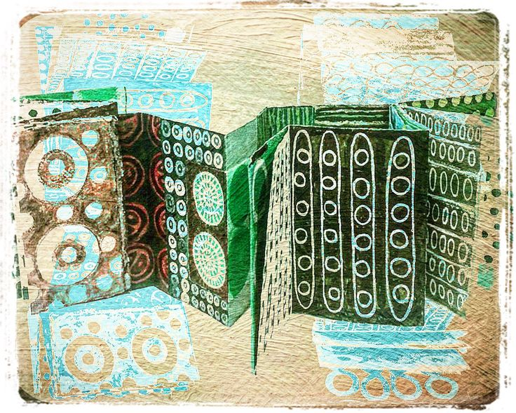 Concertina book The Green Book:  The seed collectors notebook.
