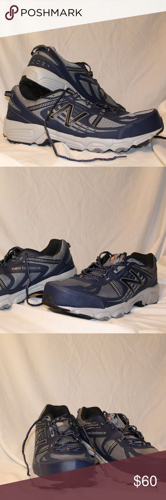 New Balance - Trail Running Shoes, Size 18 4E Synthetic Rubber sole Technical trail runner featuring sturdy stripe overlay at ghillie lacing loops and rear heel pull Padded tongue with logo lace keeper IMEVA foam midsole XLT performance footbed AT Tread all-terrain outsole New Balance Shoes Athletic Shoes