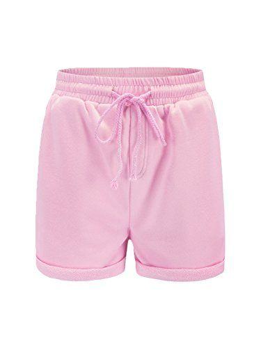 9e71f54909 Famulily Women's Summer Beach Shorts Casual Comfy Pajama Shorts with  Drawstring