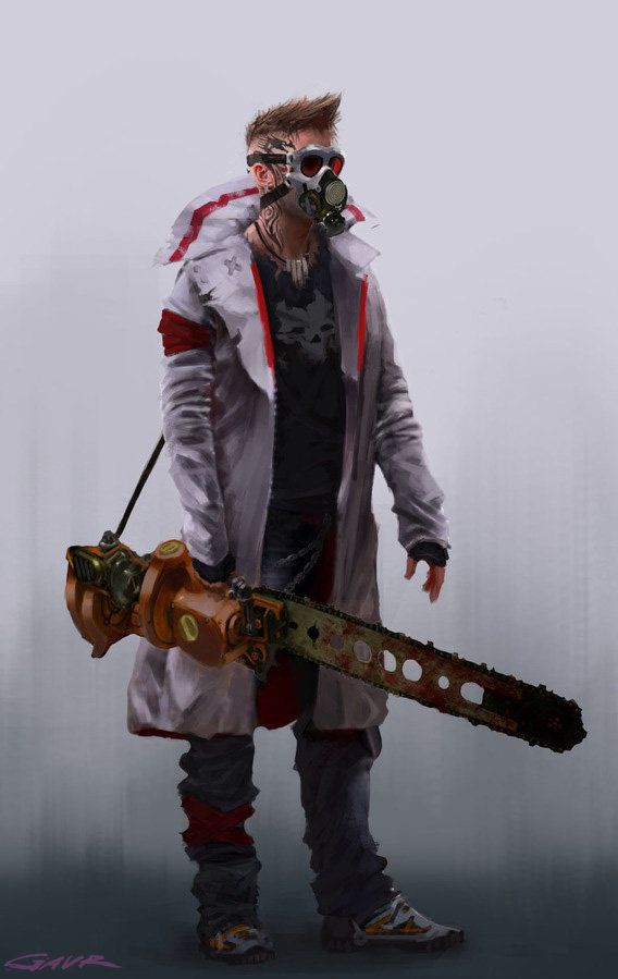 Chainsaw dude, Max Gavr on ArtStation at http://www.artstation.com/artwork/chainsaw-dude