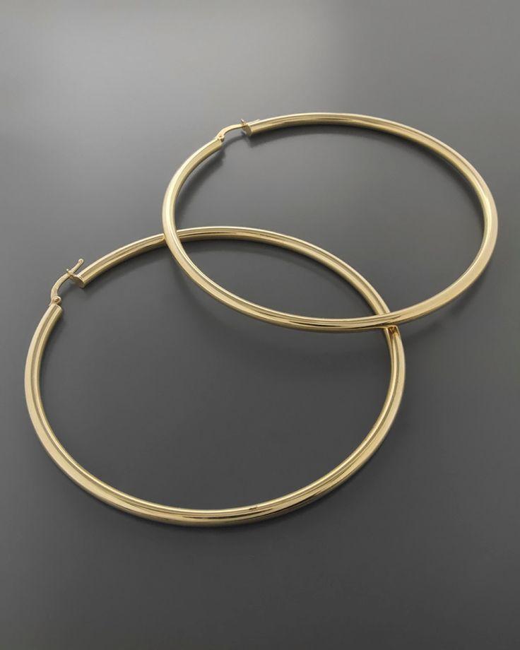 Σκουλαρίκια κρίκοι χρυσά Κ14