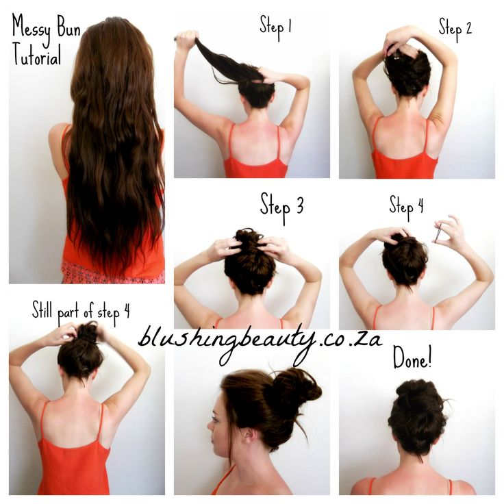 How To Do A Messy Bun Hairstyles Pinterest Buns