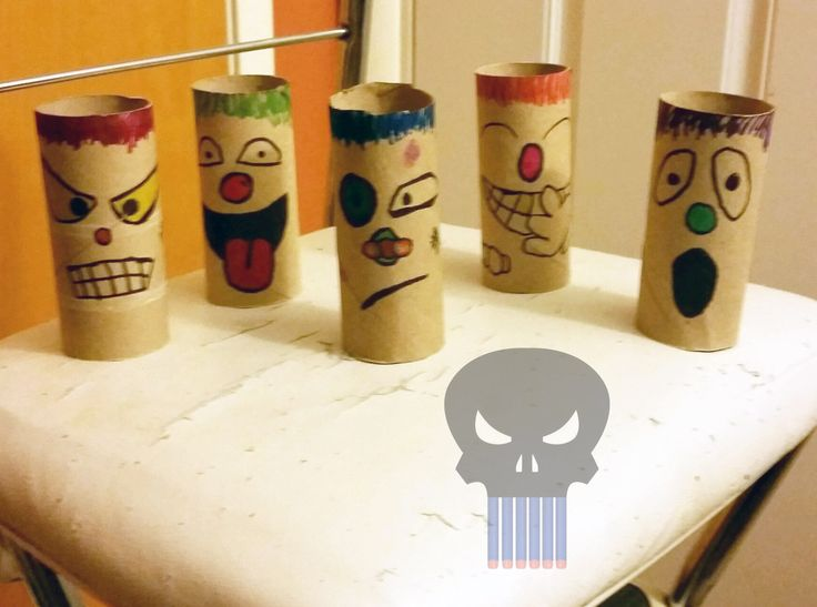 With a little patience and a dash of creativity, you too can make Nerf targets out of cardboard tubes. - The PuNerfsher