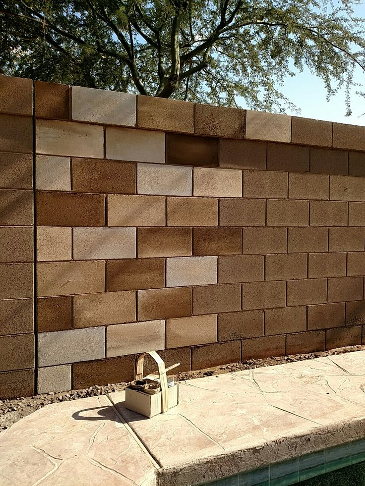 Painting A Cinder Block Wall Gives It Really Cool Effect I Love These Contrasting Browns
