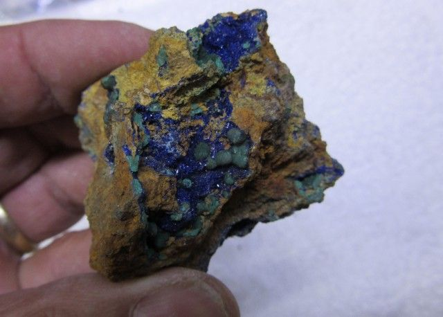 MOROCCO MALACHITE AND AZURITE MINERAL SPECIMEN AGR 1430 gemstone specimen