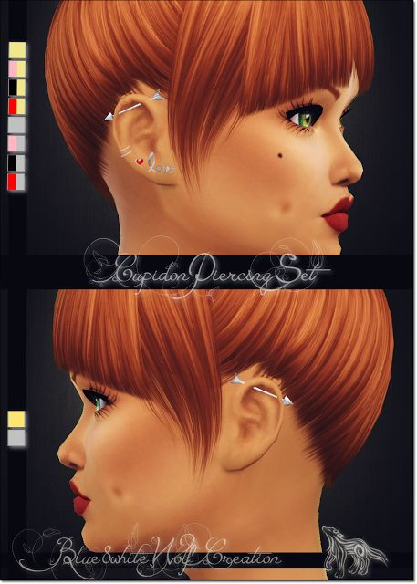 Sims 4 CC's - The Best: CUPIDON PIERCING SET by blue8whitewolfcreation