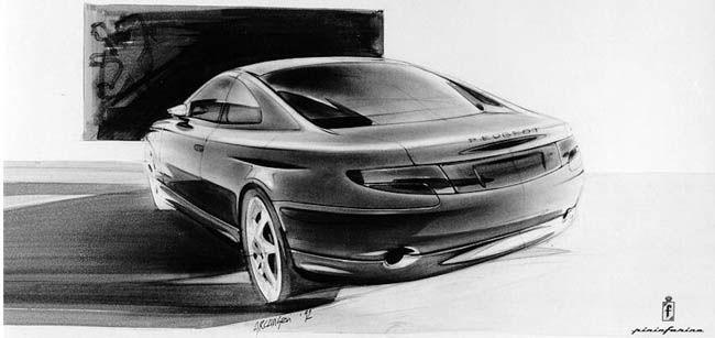 Peugeot 406 Coupe (Pininfarina) - Design Sketch by Davide Arcangeli