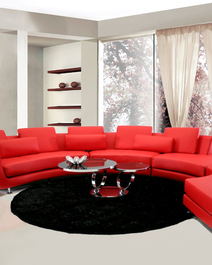 Come up with many alternatives to set up your living space as you like it! This Sexy modular sectional sofa set in red color from LA Furniture was designed for people with sophisticated taste.