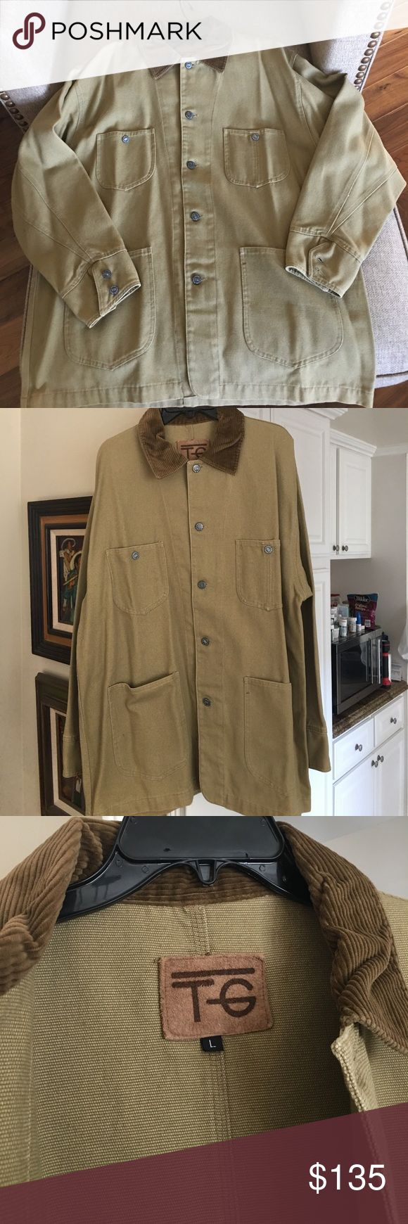 True Grit brand new men's canvas jacket True Grit brand new men's canvass lightweight jacket size L. Comes with original plastic bag. This is a heavy light jacket/shirt. True Grit Jackets & Coats Lightweight & Shirt Jackets