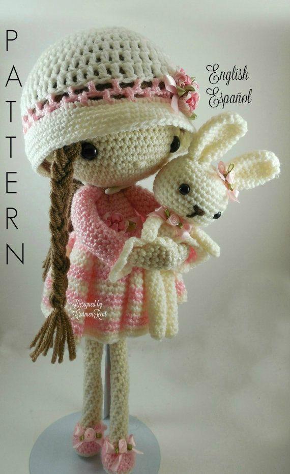 April and her Rabbit Amigurumi Doll Crochet Pattern PDF