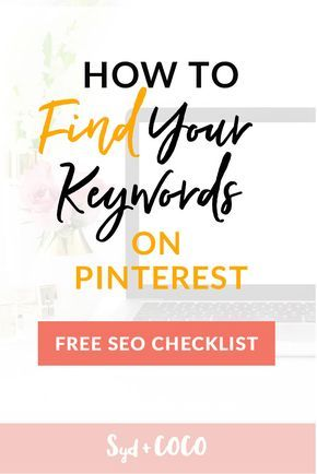 Ultimate Guide: How to Find Keywords for your Blog Post with Pinterest. FREE SEO Checklist! Read the tutorial blog post >>>