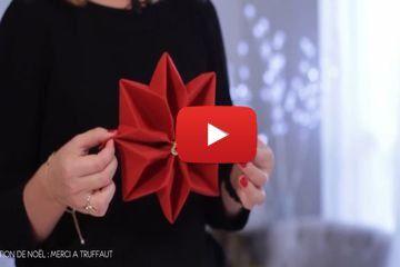 Comment réaliser un pliage de serviette en forme de flocon. ...