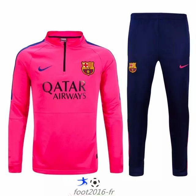 grossiste nouveau survetement equipe de foot fc barcelone rose 2015 2016 pas cher pas cher. Black Bedroom Furniture Sets. Home Design Ideas