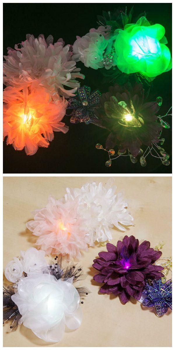 Искусственные цветы с подсветкой, которые могут быстро изменить свой цвет, чтобы максимально соответствовать вашему образу. В этом проекте используется вариант создания небольшого аксессуара в виде шелкового цветка со светодиодной подсветкой. #светодиоды #подсветка #светодиодные #декор #интерьер #искусственныецветы #светодиоднаяподсветка #свет #светодиодныйдекор #своимируками #светящиесяцветы