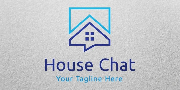 House Chat Logo Template for Sale, only 29$ + VAT