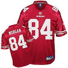 nfl san francisco 49ers 84 morgan red jerseys