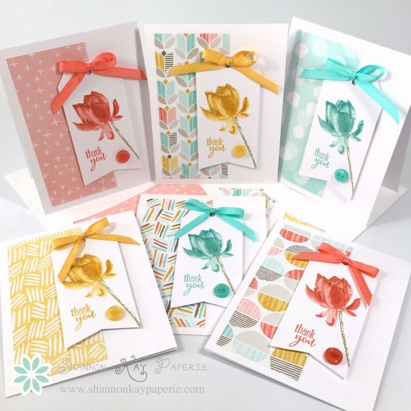 Lotus Blossom Stationery Set by Shannon Jaramillo; details here: http://shannonkaypaperie.com/february-pals-blog-hop-sharing-what-we-love/