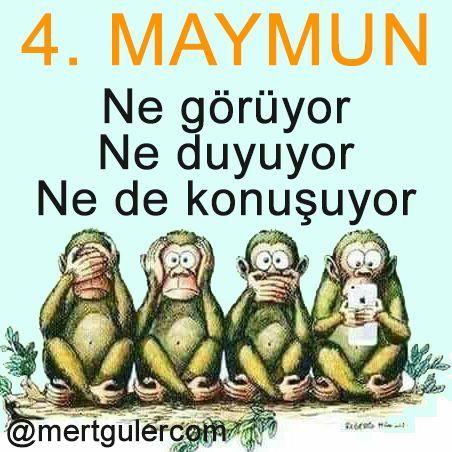 Dördüncü Maymun... Yorumlarınız..?   Daha fazlası için: Mert Güler _______ #MertGülerBakışAşısı #karikatür #GününKarikatürü #farkındalık #MertGülerKarikatürleri