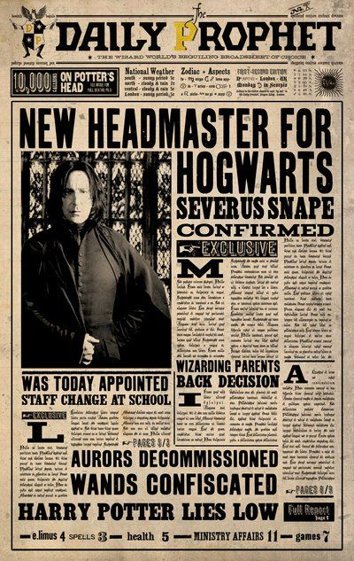 #HarryPotter The Daily Prophet Newspaper Scan