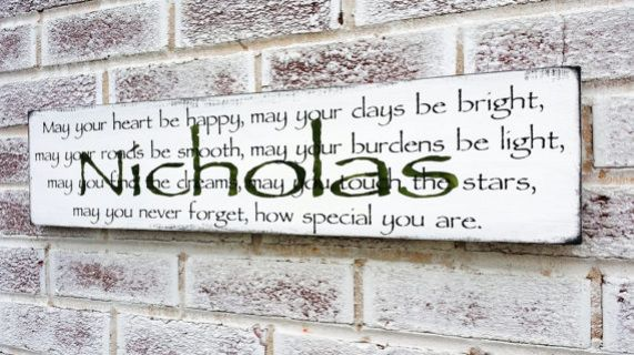 """Customized Irish Blessing Irish Proverb quote sign, """"May your heart be happy..."""", Baby boy's nursery, baby girl's nursery, Ireland, Baby shower gift, Baby name sign, art"""