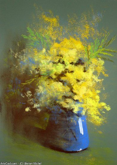 Oeuvre >> Breton Michel >> Bouquet de Mimosas