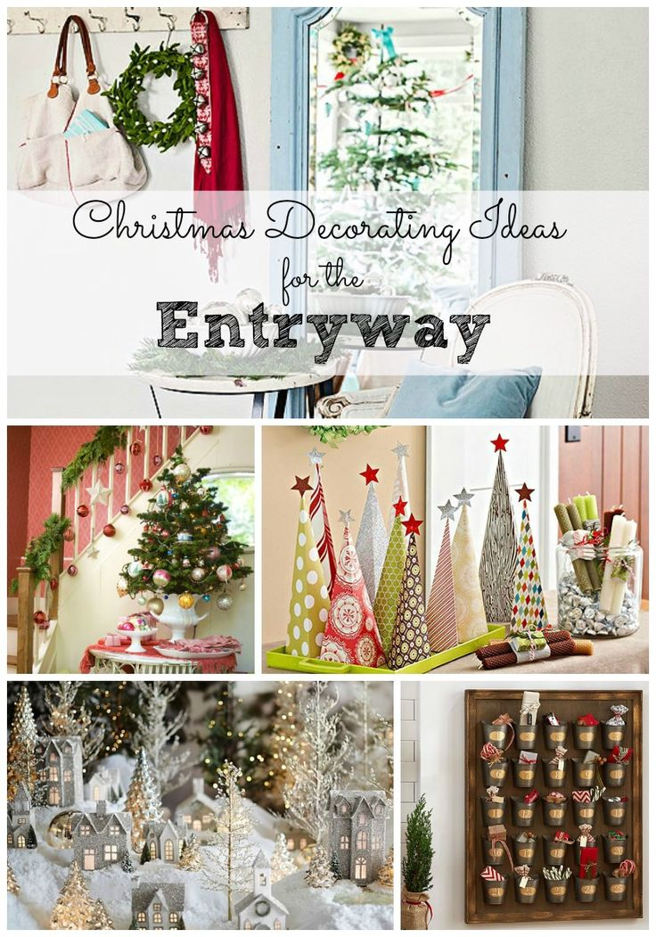 These Christmas decorating ideas for the entryway will inspire you. Plus, get some great entryway decluttering tips to keep it looking great all year long.