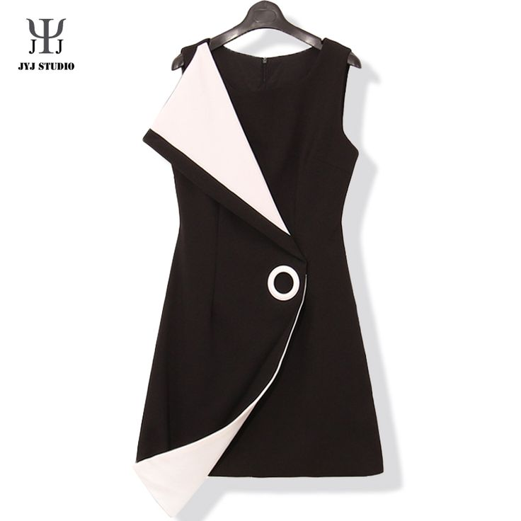 Aliexpress.com : Buy Black And White Ladies Office Dress Suit Collar Women Mini Sexy Dress Work Sleeveless Summer Little Black Dress from Reliable dress fancy suppliers on JYJ STUDIO