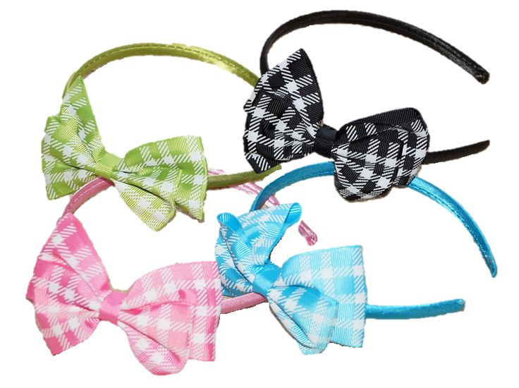 Girls Gingham Headbands (check) Only $3.99 Check out complete range of Girls Headbands at Duckids.com.au