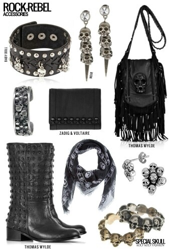 Rock fashion clutch and purse