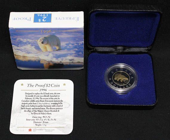 1996 Canada 2 Polar Bear Proof Coin Sleeve COA #proof #coin #for #sale #Royal #Canadian #mint