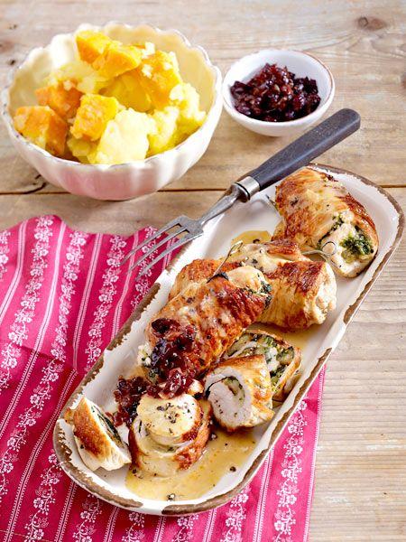 Thanksgiving-Rouladen mit Süßkartoffeln