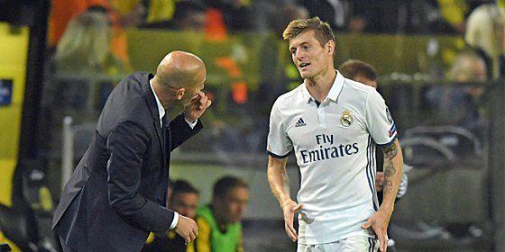 Zinedine Zidane kann am Dienstag auf seinen Strategen Toni Kroos zurückgreifen.